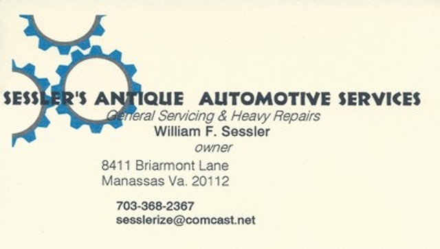 Sessler's Antique Automotive Services